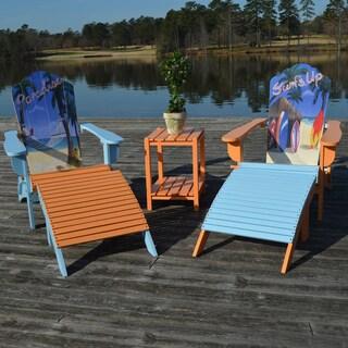 Corolla Adirondack Chair and Ottoman Set