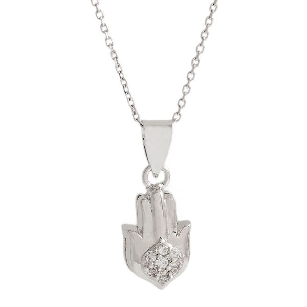 Pori Sterling Silver Marquise Hand Pendant Necklace