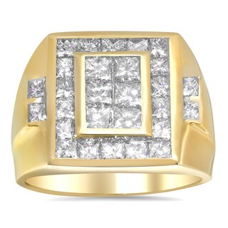 Artistry Collections 14k Yellow Gold Men's 3ct TDW Diamond Ring (F-G, VS1-VS2)
