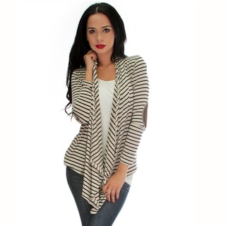 Totally Striped Out Elbow Patch Cardigan