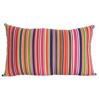 Cotton Multi Color Stripe Printed Pillow with Polyester Insert