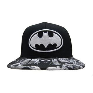 Batman Black Baseball Cap with Printed Bill
