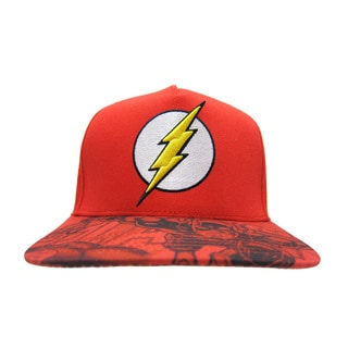 The Flash Red Baseball Cap with Printed Graphics Bill