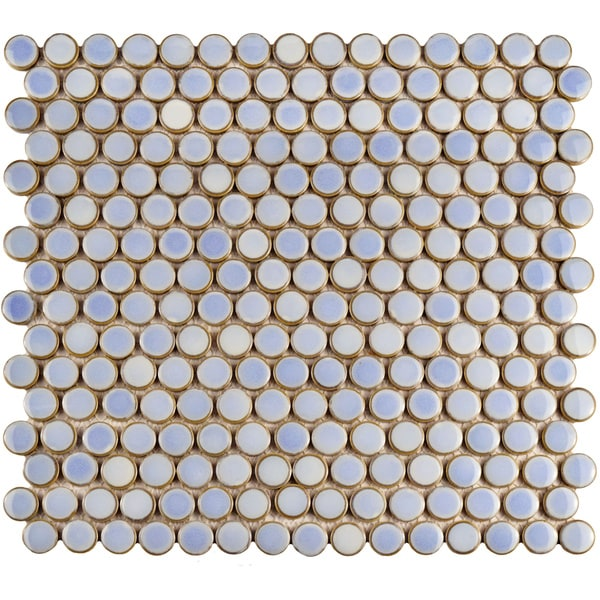 Somertile 12 x penny frost blue porcelain for 12 x 12 blue ceramic floor tile