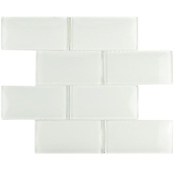 Subway Ice White Glass Wall Tile Case Of 5 17111931 WITICSIW Photo
