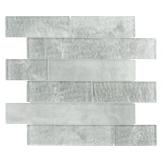 SomerTile 11.625x11.625-inch Iglu Panel Ash Glass Wall Tile (Case of 10)