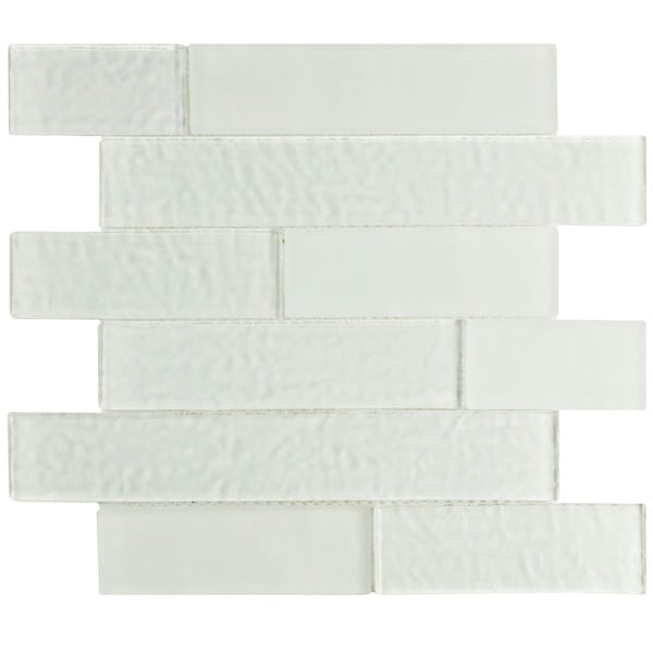 SomerTile 11.625x11.625-inch Iglu Panel Glacier White Glass Wall Tile (Case of 10)