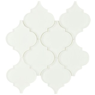 SomerTile 8x8.625-inch Morocco Frosted Ice White Glass Wall Tile (Case of 10)