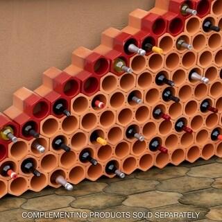 SomerTile 9.25x5-inch Botellera Red Glazed Terra Cotta Wine Rack