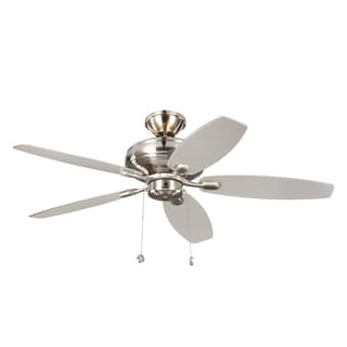 Monte Carlo Centro Max Uplight 5 Blade Brushed Steel Ceiling Fan