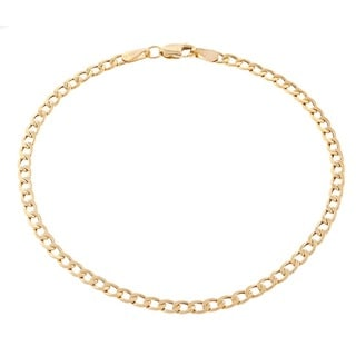 Pori Men's 10k Gold Cuban Chain Bracelet