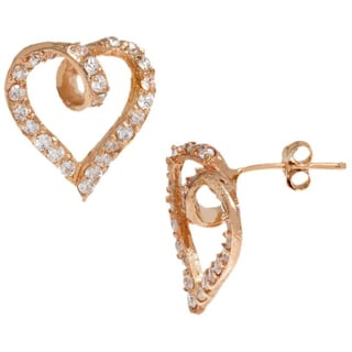 Pori 18k Goldplated Sterling Silver Heart Cubic Zirconia Earrings