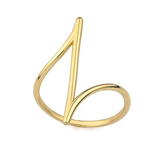 10k Yellow Gold Pointed Fashion Ring Size 7