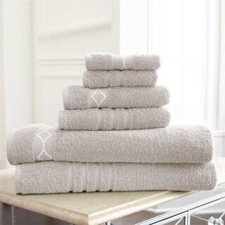 Diamond Embroidery Cotton 6-piece Towel Set