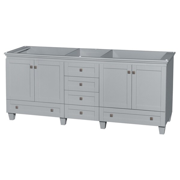 Wyndham Collection Acclaim 80-inch Oyster Grey Double Vanity