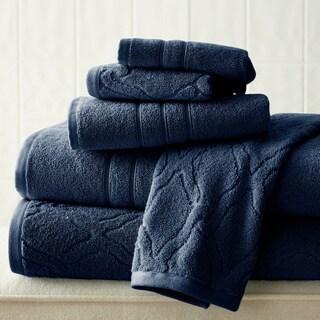 Chain Jacquard/ Solid 6-piece Towel Set