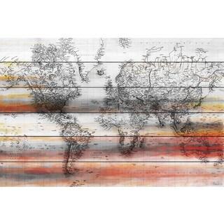"""Parvez Taj - """"Maailma"""" Painting Print on White Wood"""