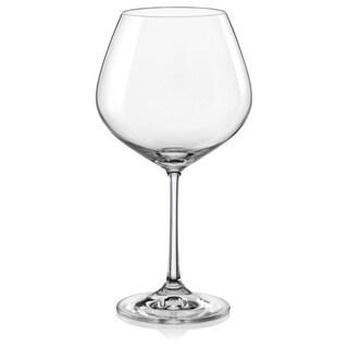 Red Vanilla Viola Burgundy 19-Ounce Wine Glass (Set of 6)