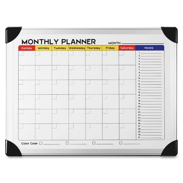 Lorell Dry-Erase Magnetic Planner Board - (1/Each)