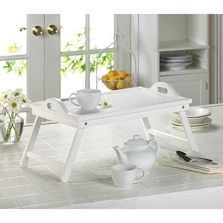 Modern White Easy-Fold Wooden Tray