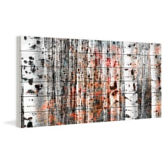 "Parvez Taj - ""Tree Ski"" Painting Print on White Wood"
