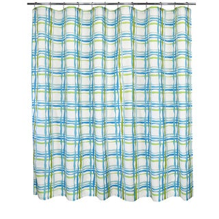 Park B. Smith Wavy Plaid Watershed Shower Curtain