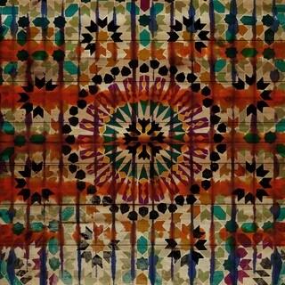 "Parvez Taj - ""Enchanted"" Painting Print on Natural Pine Wood"