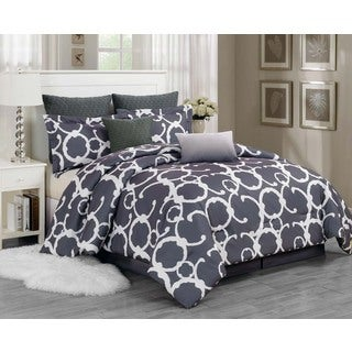 Rhys Hotel Quilted Oversize / Overfilled 7-piece Comforter Set