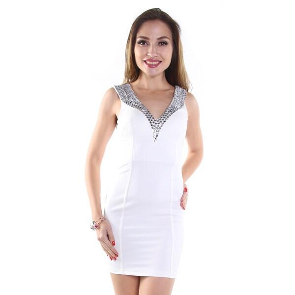 Hadari Women's White Mini Dress