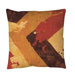 Thumbprintz Splatter No 1 Red Throw or Floor Pillow