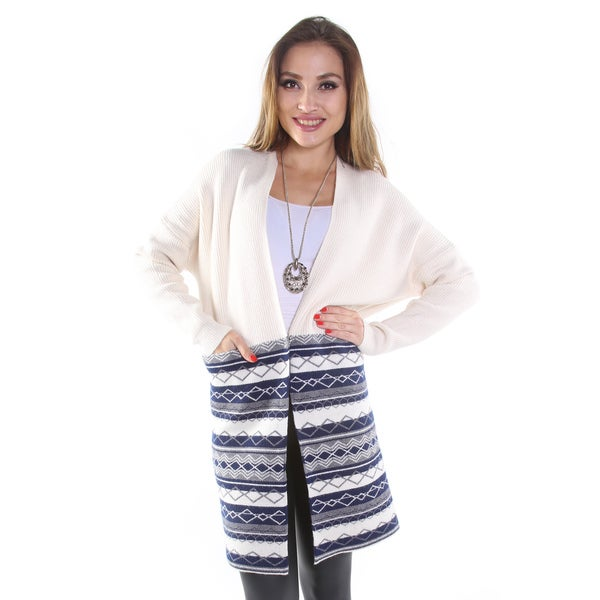 Hadari Women's 3/4 Length-Sleeved Cardigan