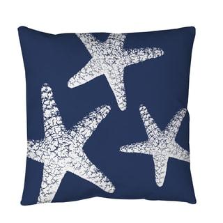 Thumbprintz Nautical Nonsense White Blue Starfish Throw or Floor Pillow