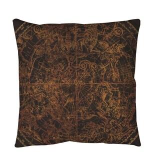 Thumbprintz Northern Celestial Sphere Vintage Throw or Floor Pillow