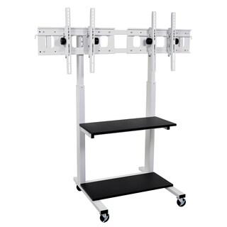 Luxor CLCD-DUAL Crank Adjustable Flat Panel TV Cart