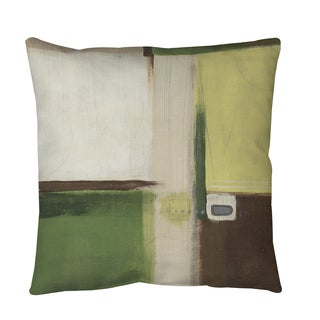 Thumbprintz Green Field 1 Throw or Floor Pillow