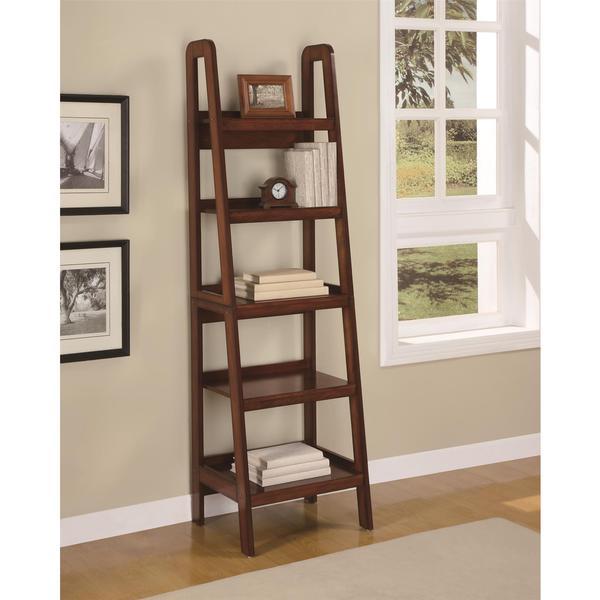 Altra Platform Mahogany Ladder Bookcase