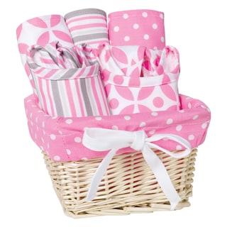 Trend Lab Lily 7-piece Feeding Basket Gift Set