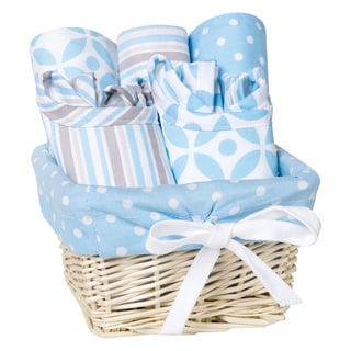Trend Lab Logan 7-piece Feeding Basket Gift Set