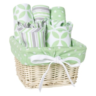 Trend Lab Lauren 7-piece Feeding Basket Gift Set