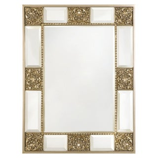 "Selections by Chaumont Versailles Antique Silver Wall Mirror 49"" L x37""W"