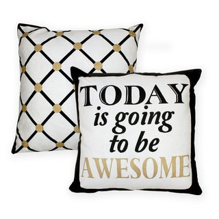 Contempo Awesome Cotton Decorative 18-inch Throw Pillows (Set of 2)