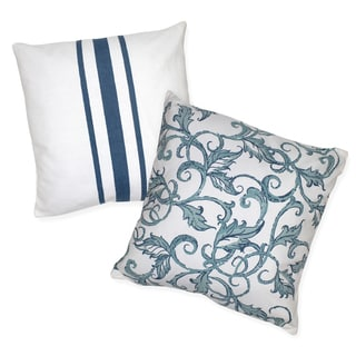 French Vine Cotton Decorative 18-inch Throw Pillows (Set of 2)