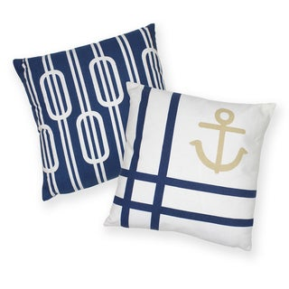 Nautical Knot Cotton Decorative 18-inch Throw Pillows (Set of 2)