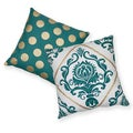 Eclectic Gold Dot Cotton Decorative 18-inch Throw Pillows (Set of 2)