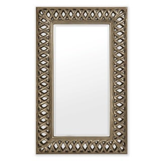"""Selections by Chaumont Lancaster Antique Pewter Open Fretwork Mirror 60"""" L x 37"""" W"""