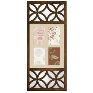 Selections by Chaumont Milano IV Bronze 4 Photo Frame with Decorative Mirror Detail