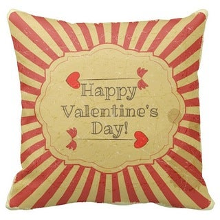 Valentine's Day Cupid Arrows 16-inch Throw Pillow