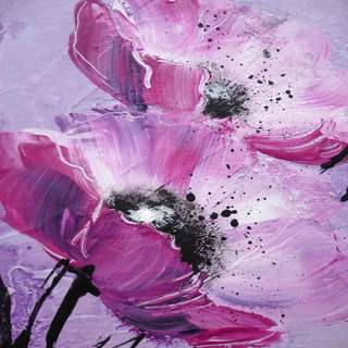 Selections by Chaumont Purple Blooms Canvas