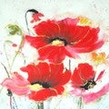 Selections by Chaumont Handpainted Poppy Trio
