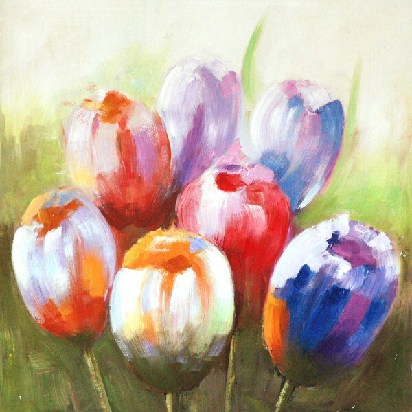 Selections by Chaumont Hand painted Tulips